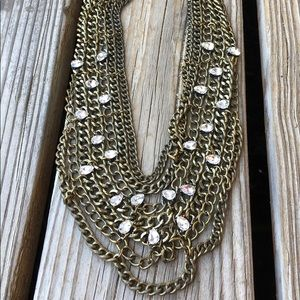 BaubleBar Tiered Chunky Crystal Chain Necklace!